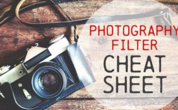 Photography filter cheat sheet