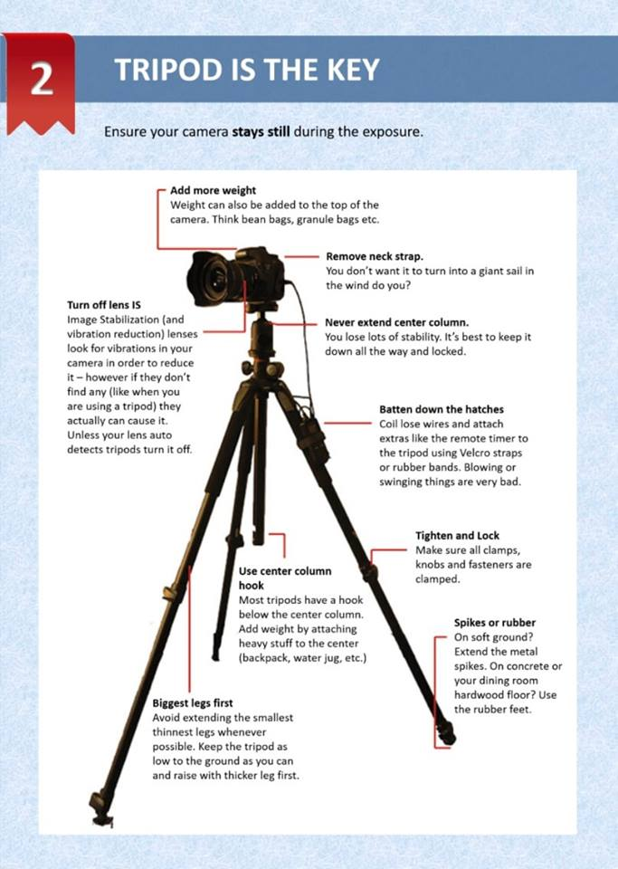 How to use tripod for photography