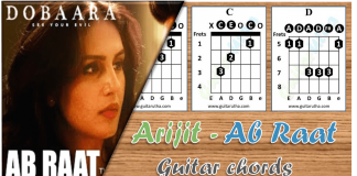 Ab raat guitar chords thumbnail-arijit-dobaara