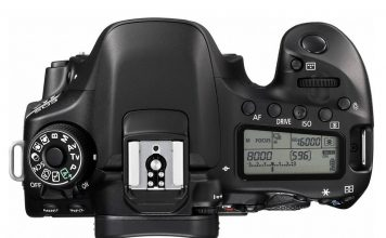 Canon 80D top view