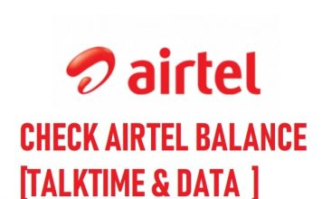 how to check airtel balance