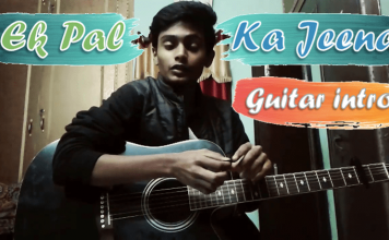 Ek pal ka jeena guitar intro thumbnail