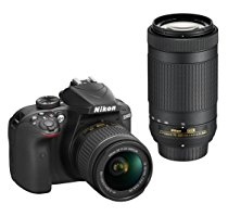 Nikon D3400 Digital Camera Kit (Black) + Lens AF-P DX Nikkor 18-55mm f/3.5-5.6G VR + AF-P...