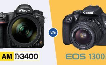 Nikon D3400 vs Canon 1300D