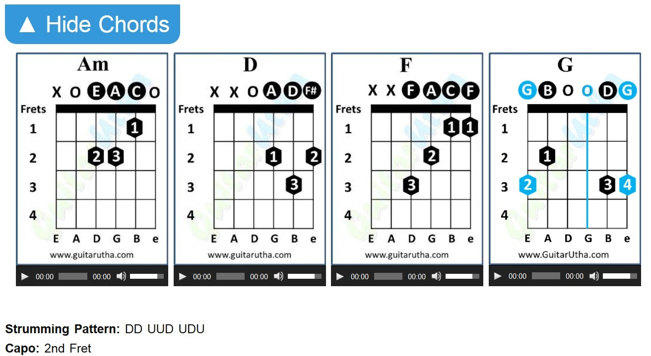 Tu Jo Hain Guitar Chords And Strumming Pattern With Capo Mr X
