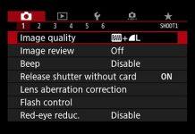 canon eos 80D menu