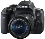 Canon EOS 750D 24.2MP Digital SLR Camera (Black) + 18-55 IS STM Lens + Memory Card + Carry...