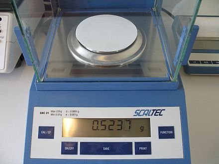 filter paper and weighing scale