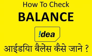 how to check idea balance