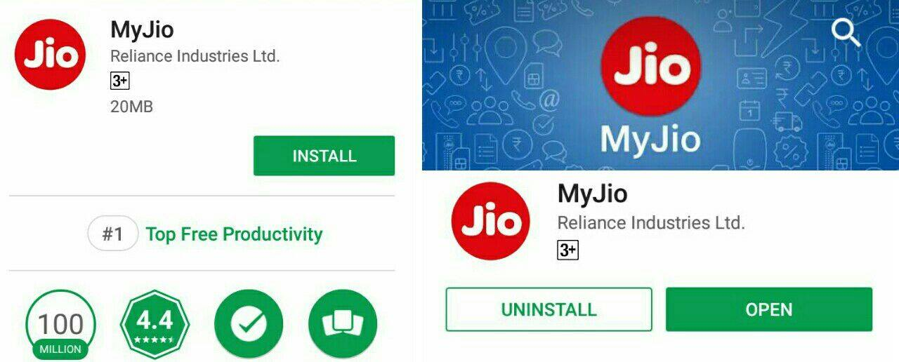 my jio app in play store