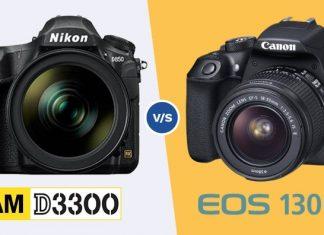 nikon D3300 vs canon 1300D