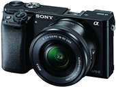 Sony Alpha A6000L 24.3MP Mirrorless Camera (Black) + 16-50mm Lens with Memory Card and...