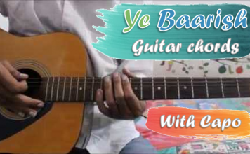 ye baarish guitar chords thumbnail - darshan